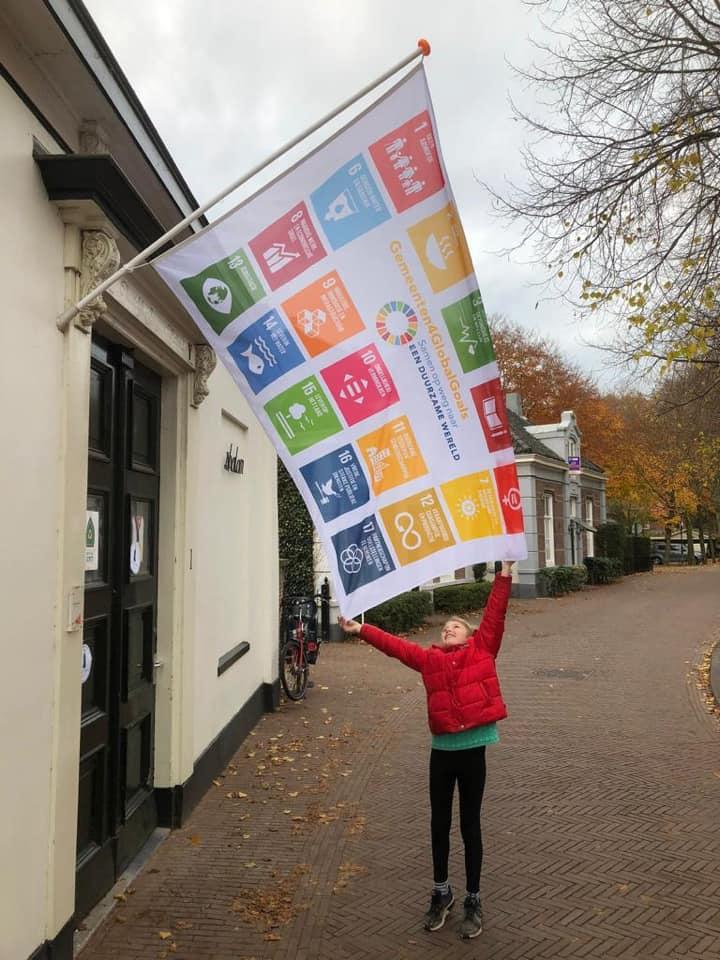 Groene Meent Global Goals vlag