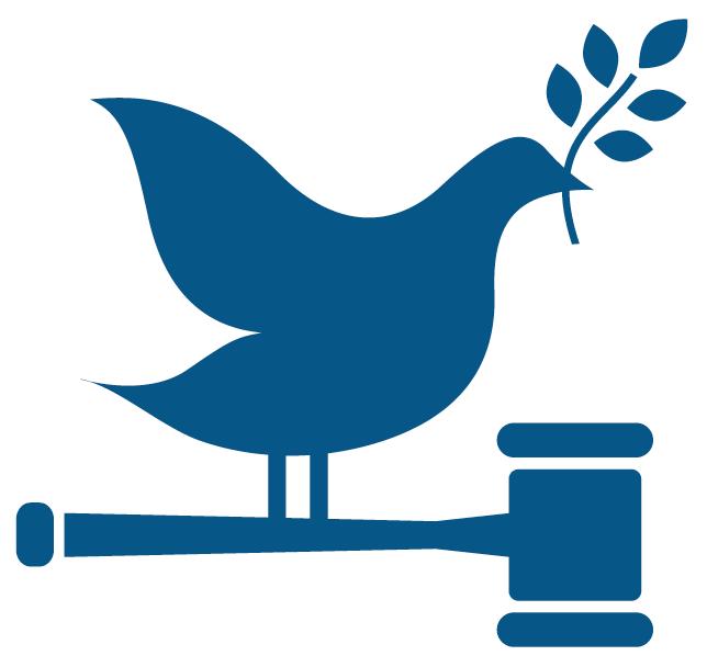 16 Vrede, justitie en sterke publieke diensten - Icoon