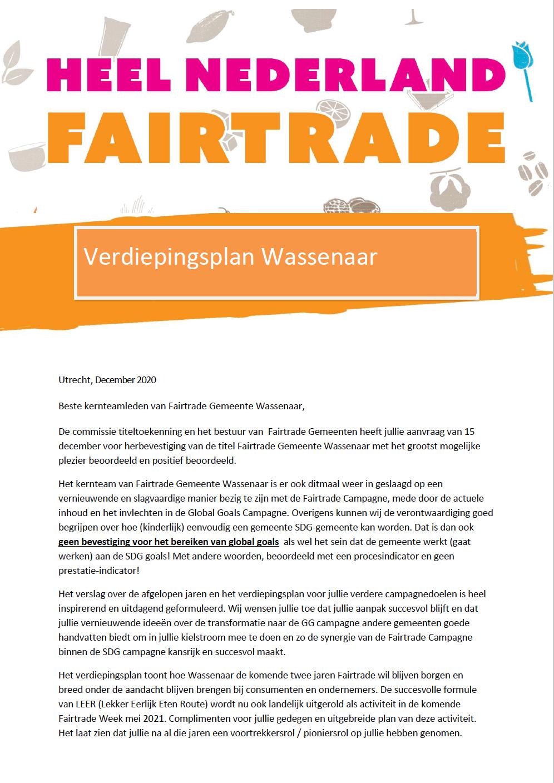 Verdiepingsplan Wassenaar Fairtrade